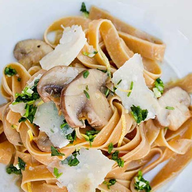 Mushroom Pasta Sauce with Lemon Persillade