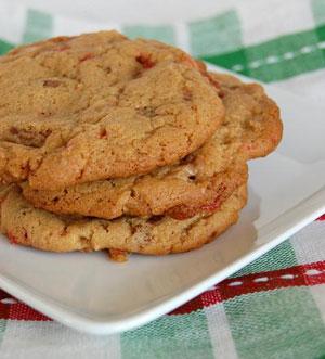 Peppermint-Toffee Cookies