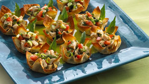Herb & Lime Chicken Cups