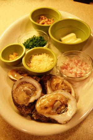 Mangalitsa Bacon Oyster Fixins'