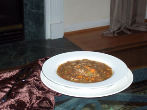 Liz's Lazy Day Hearty Healthy Lentil Soup