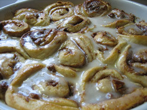 Snow Day Cinnamon Rolls
