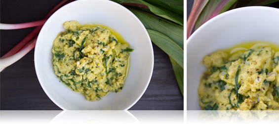 French-Style Scrambled Eggs w/ Wild Ramps - Marx Foods Blog