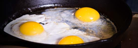 frying-duck-egg