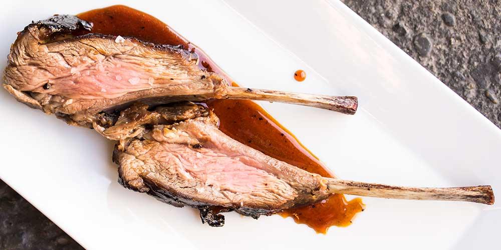 Merino Shoulder Racks with an Adobo-Inspired Gastrique