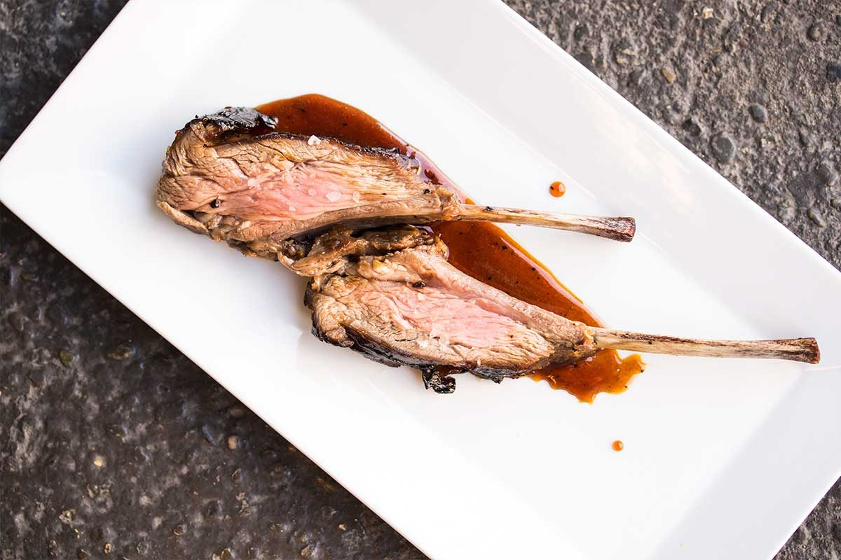Merino Shoulder Racks with an Adobo-Inspired Gastrique