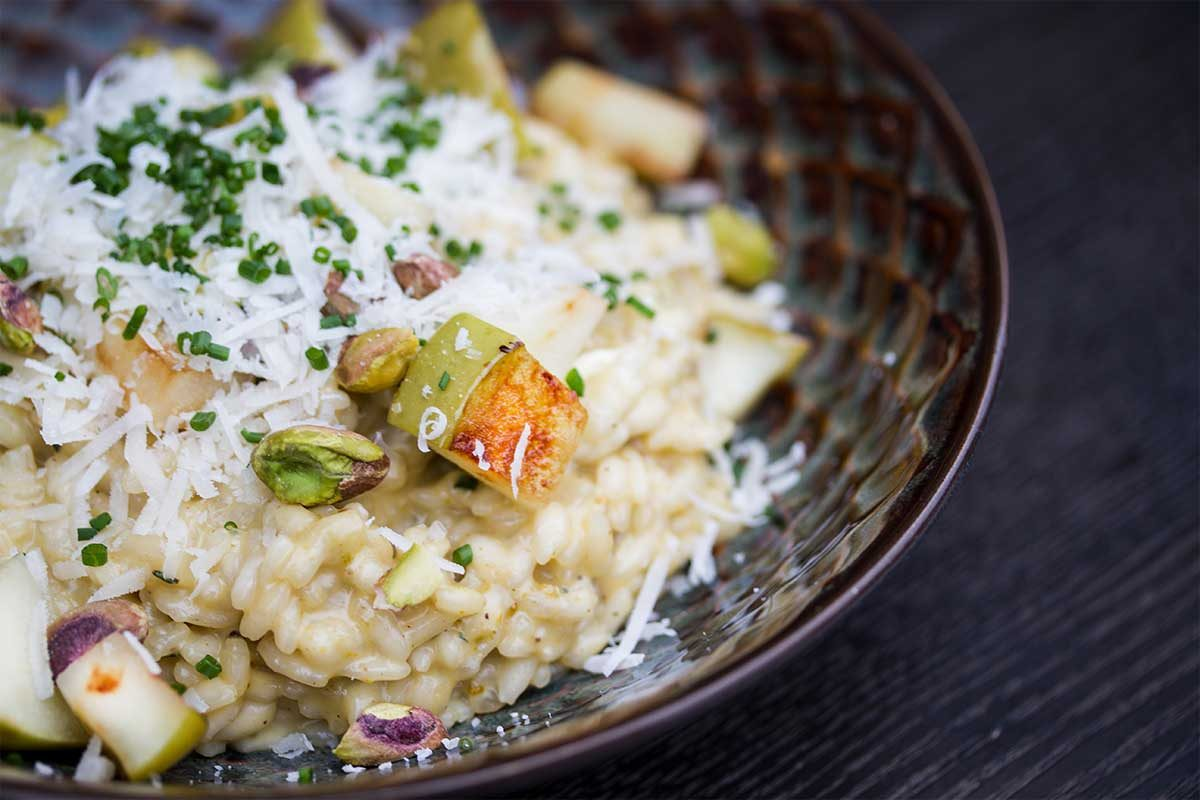 Apple risotto
