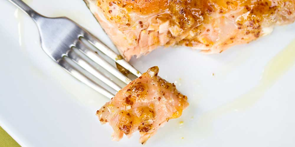 Apricot & Mustard Glazed Salmon