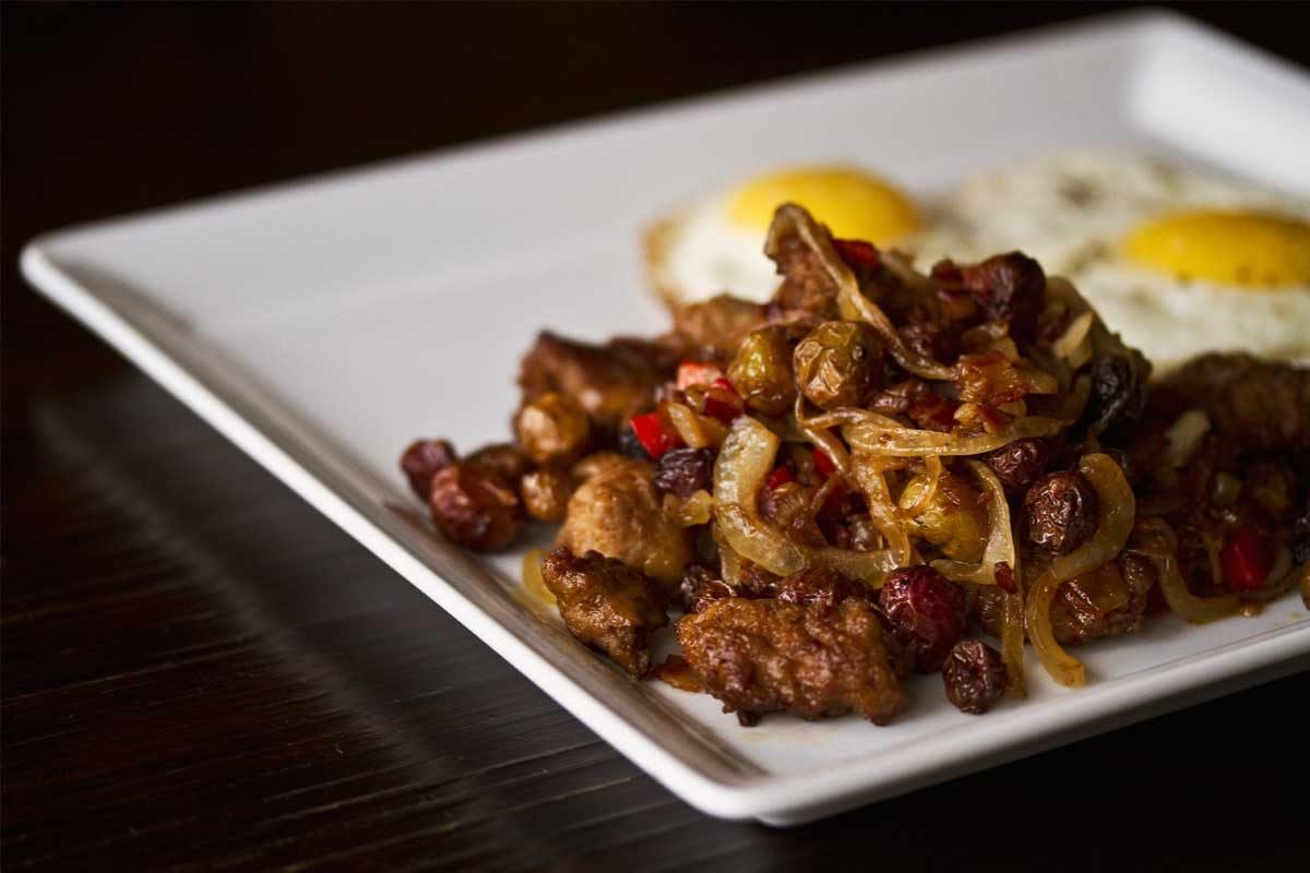 Bacon-Sausage Potato Hash
