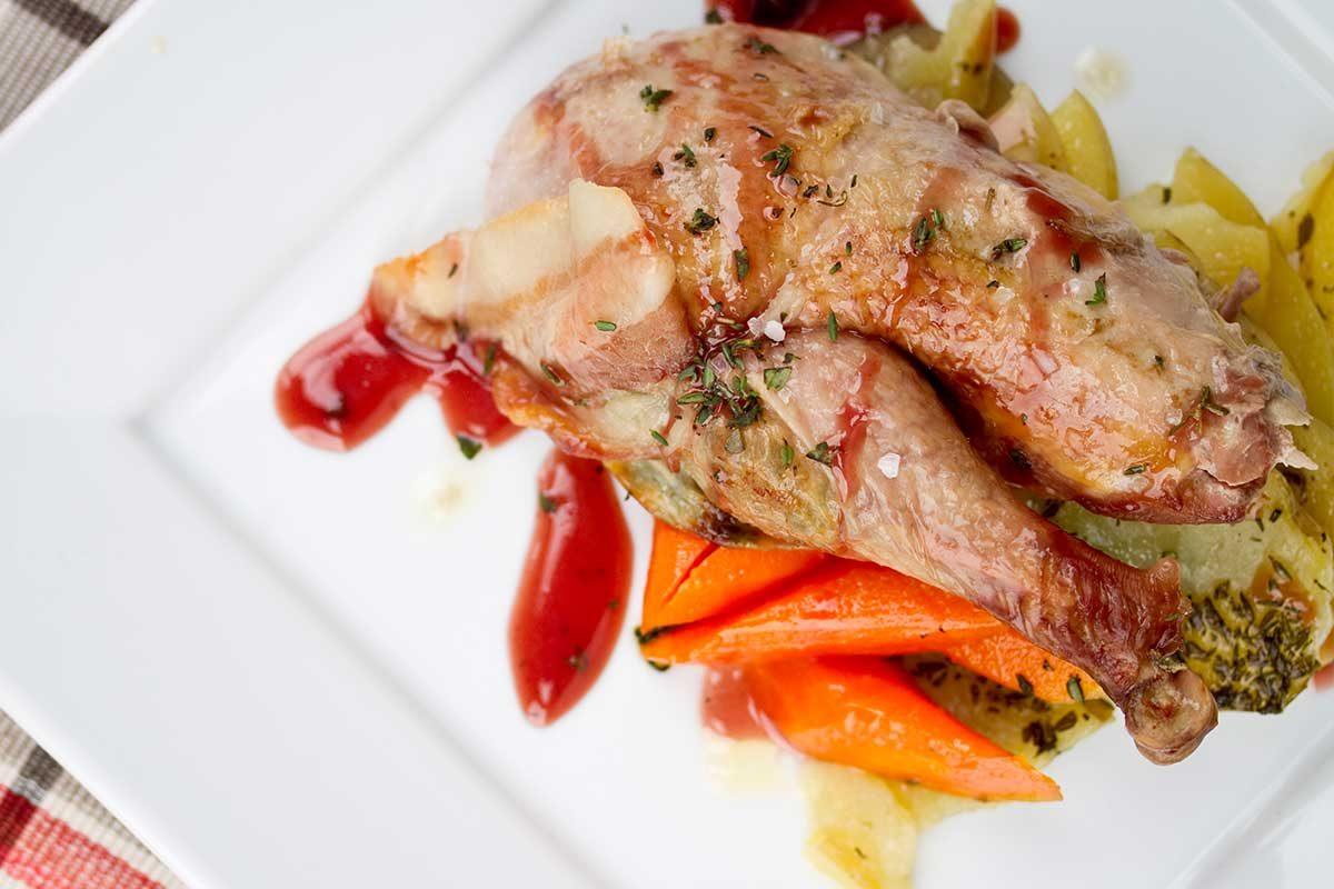 bacon wrapped pheasant