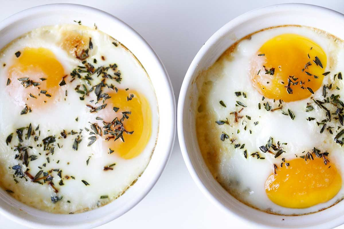 Baked Eggs with Morels