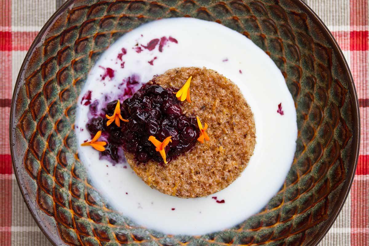 Huckleberry Spelt Porridge