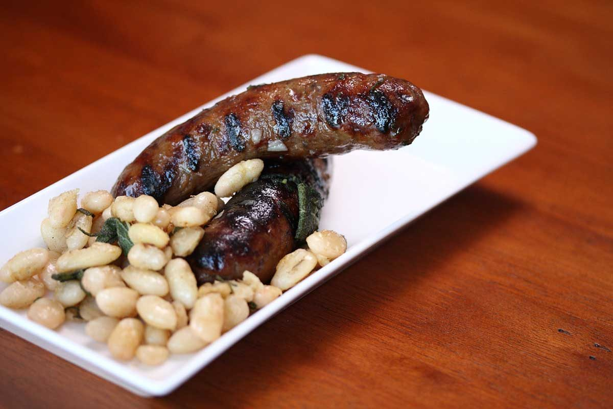 Beans & Sausage with Brown Butter & Sage