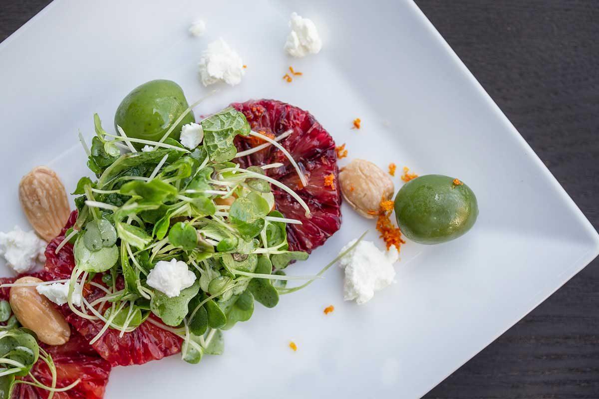 blood orange micro green salad