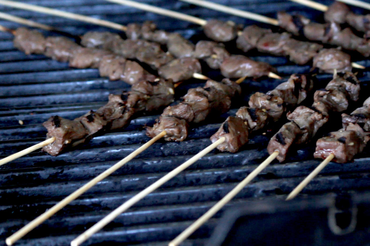 Bourbon Marinated Venison Skewers