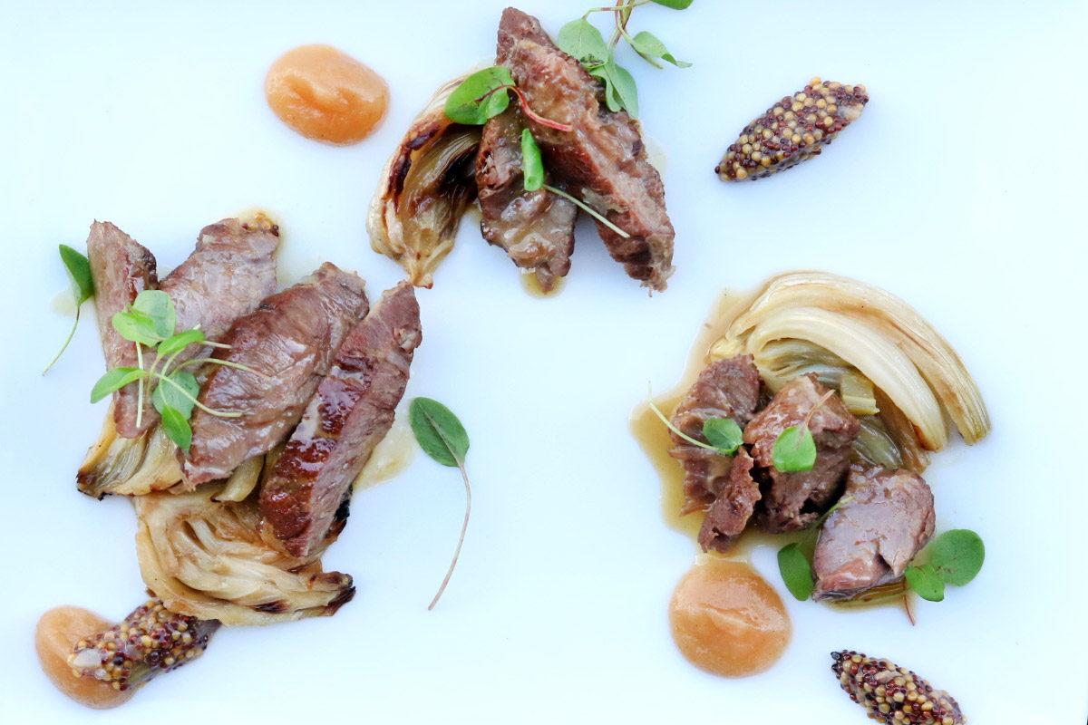 Braised Kurobuta Pork Cheeks w/ Apple & Mustard