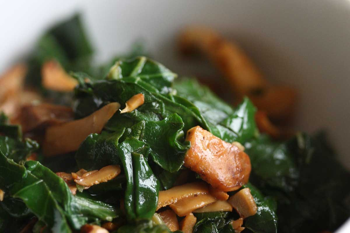 Chopped Kale & Wild Mushrooms