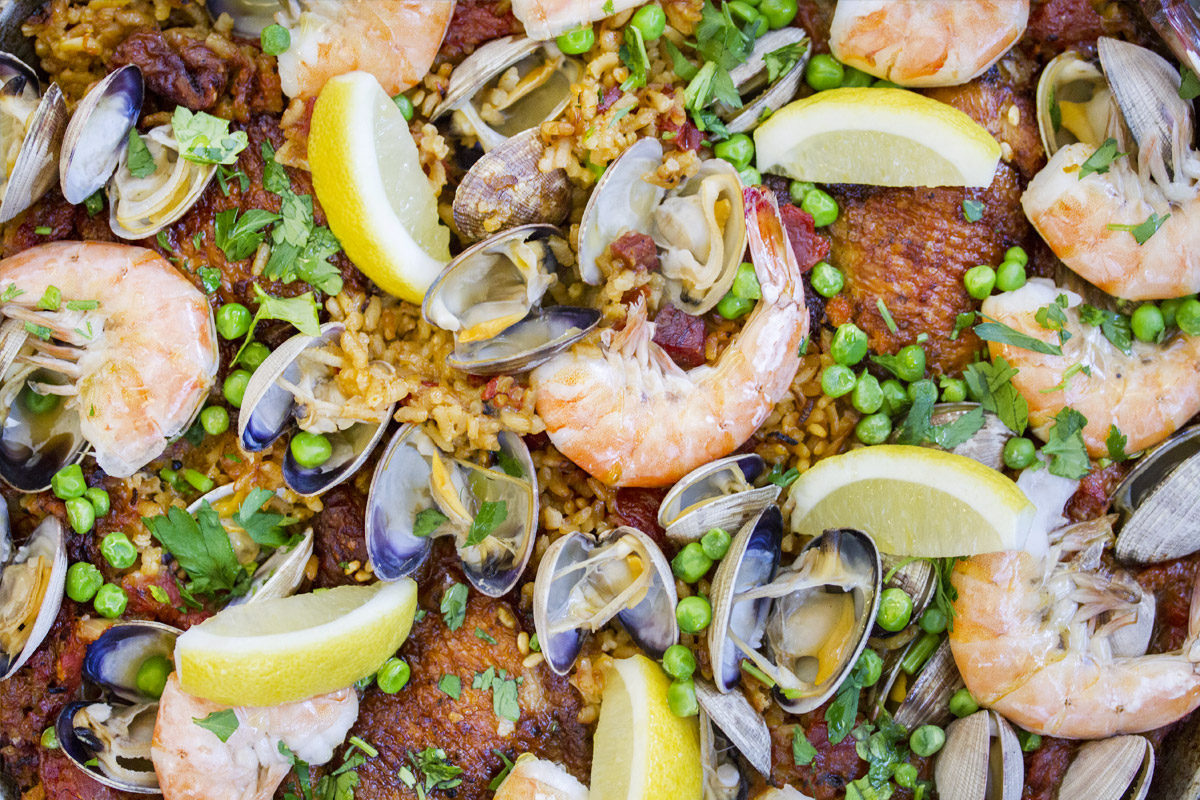 Chorizo, Shrimp & Clam Paella