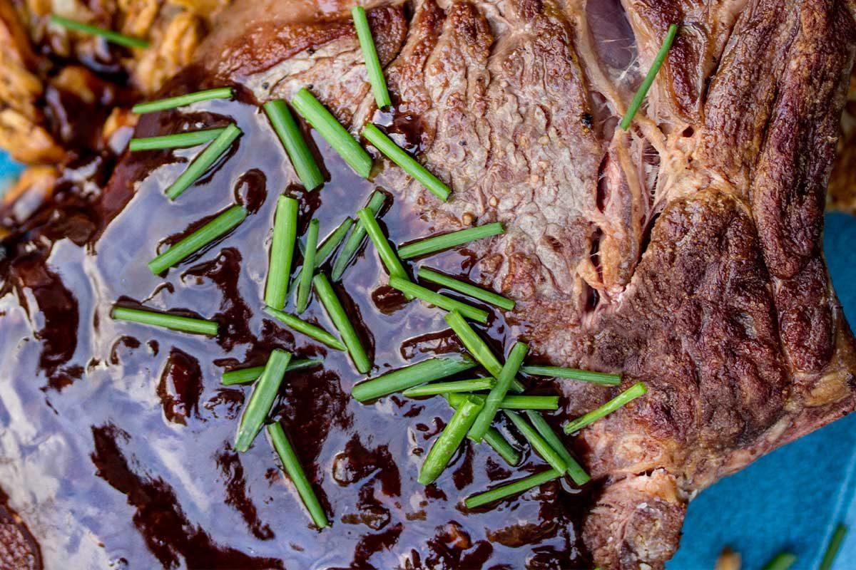 grass-fed beef cowboy steak porter chocolate