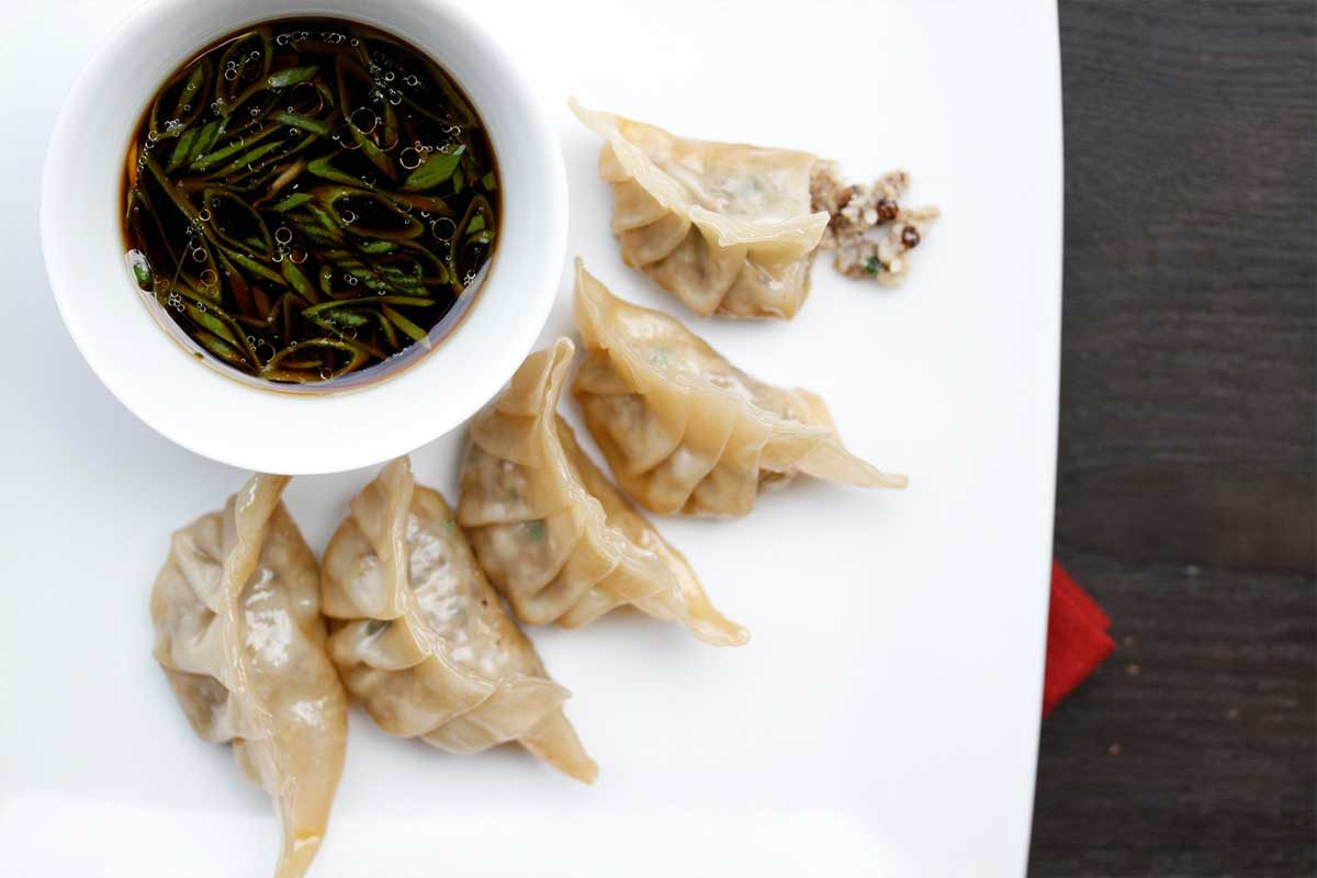Cricket & Scallop Potstickers