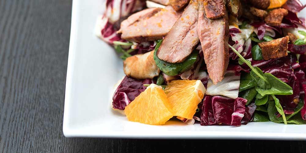 Duck, Shiitake & Radicchio Salad