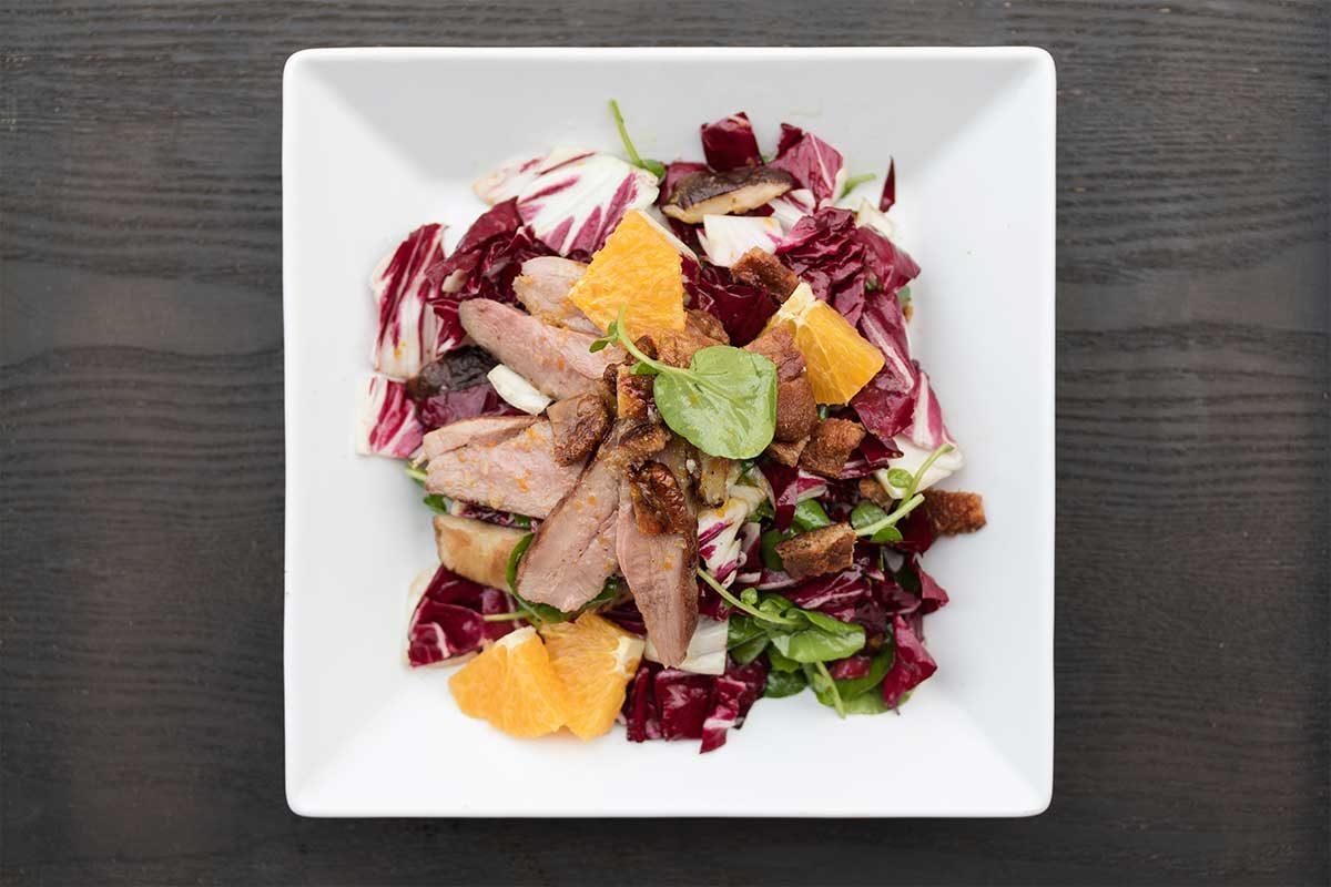 Duck Shiitake Radicchio Salad