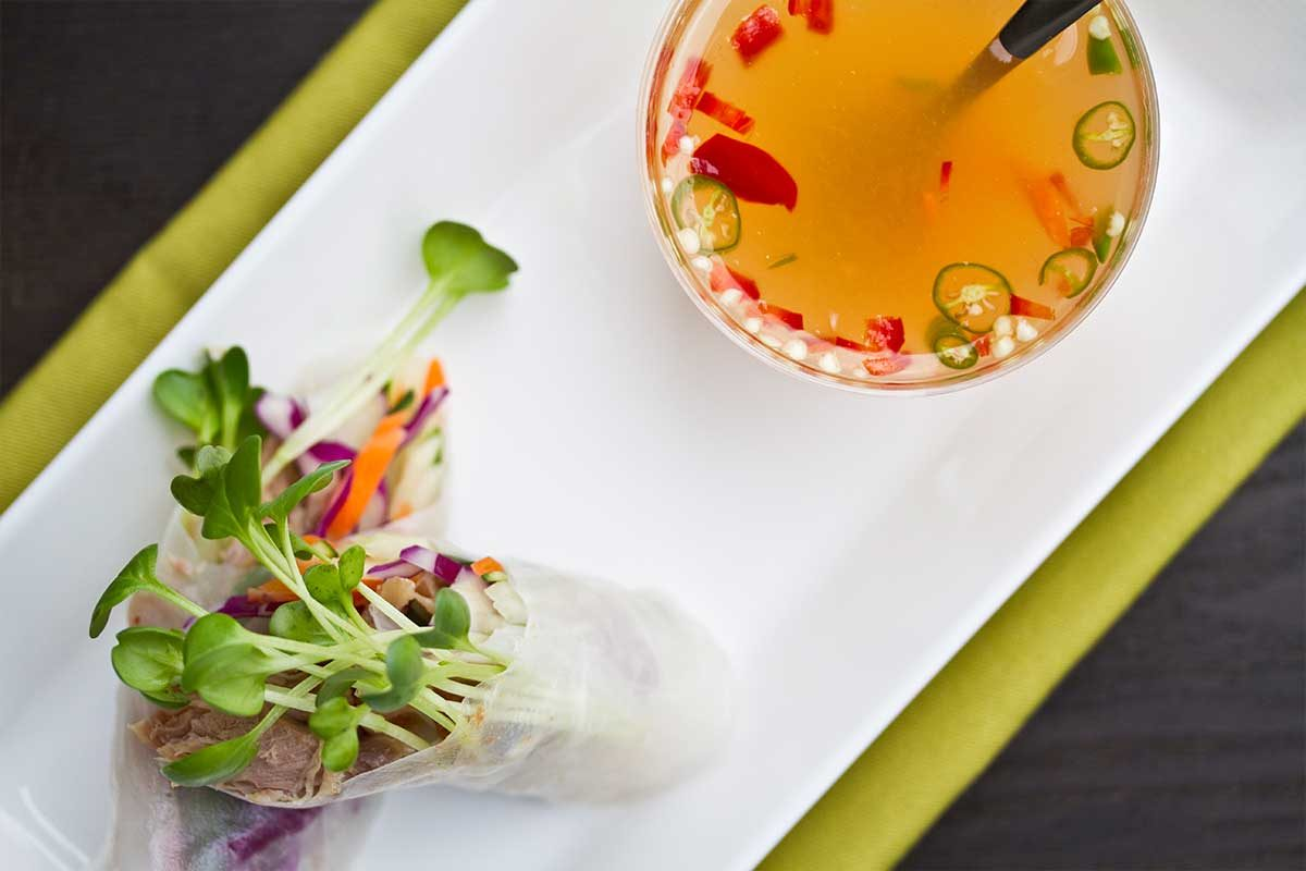 Duck confit spring roll