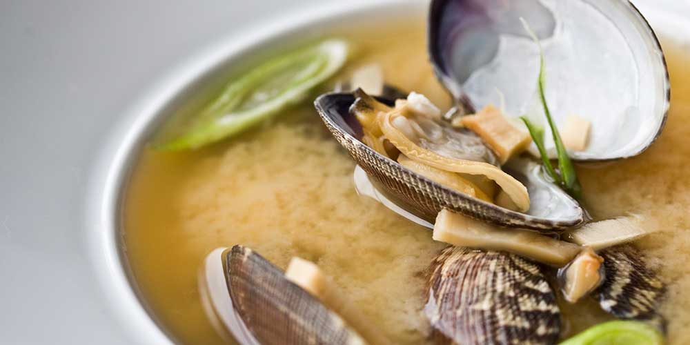 Evening Miso Soup with Mushrooms & Clams