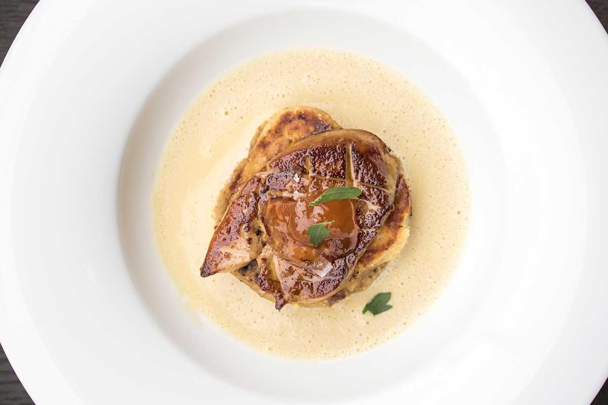 Foie Gras Corn Cakes Corn Sauce