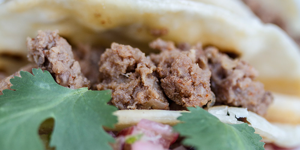 Goat Tacos w/ Cherry-Rhubarb Salsa