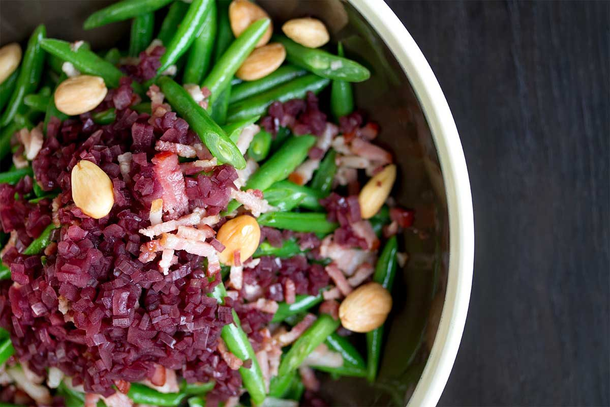 Green Beans Shallots Almonds Bacon