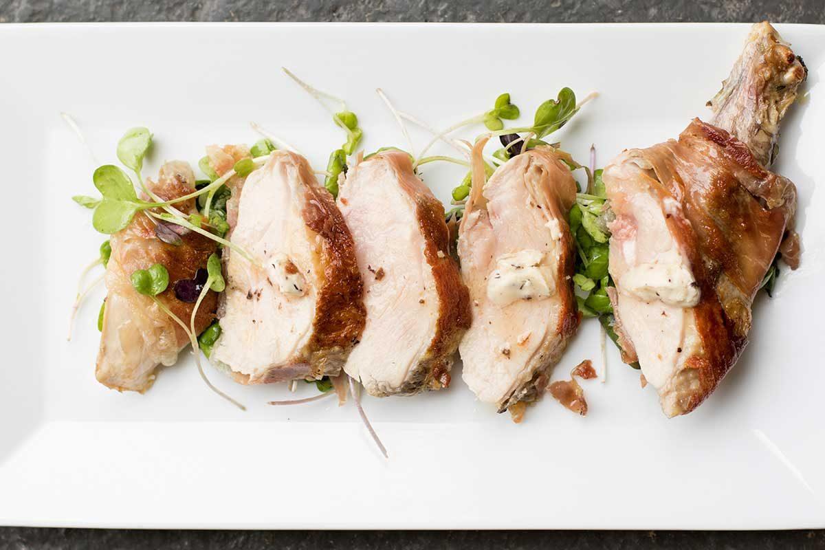 Guinea Fowl Breasts w/ Truffle Butter & Prosciutto