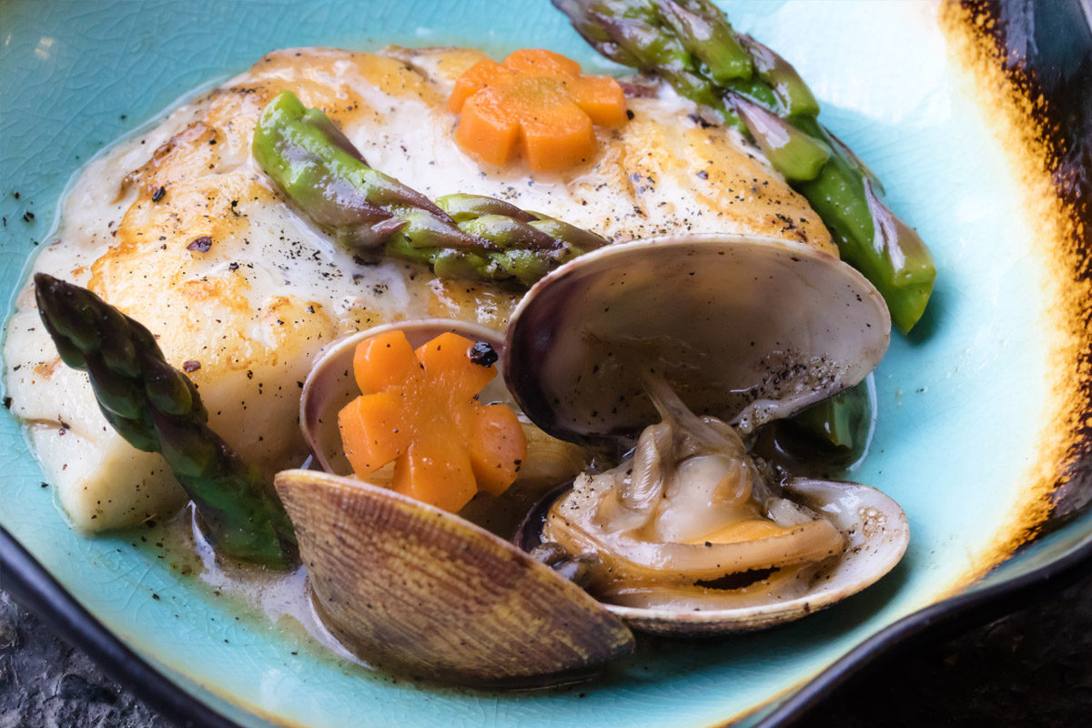 Halibut and Clams