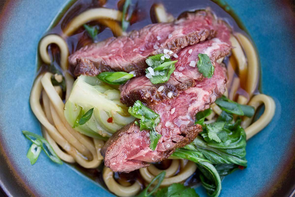 Hanger Steak Udon Soup