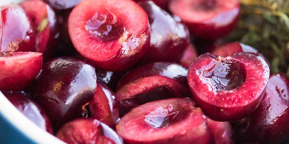 Honey Pickled Cherries