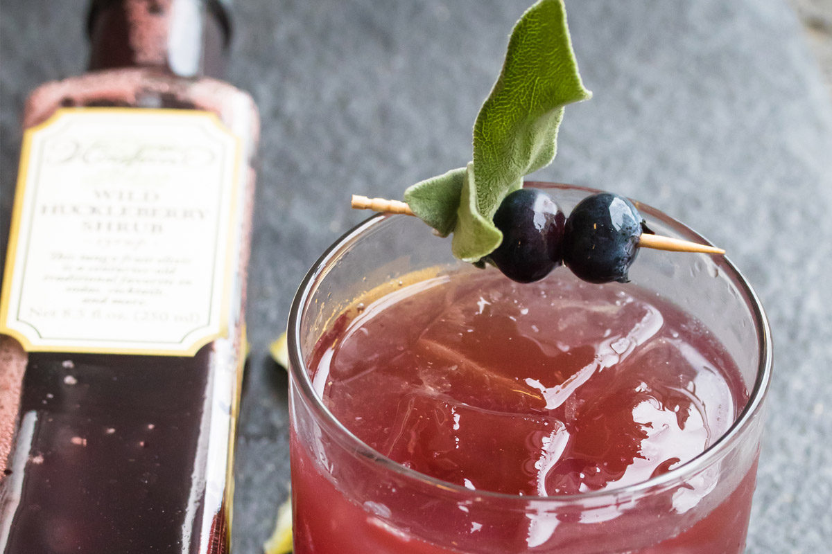 Huckleberry Sage Shrub Cocktail
