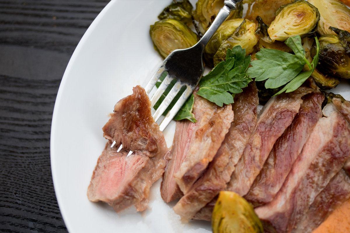 Iberico Pork Pluma with Romesco Sauce