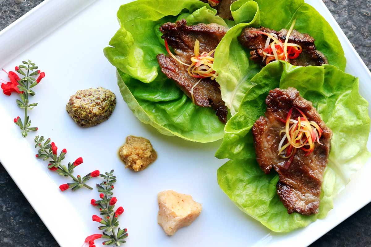 Iberico Pork Collar Lettuce Wrap