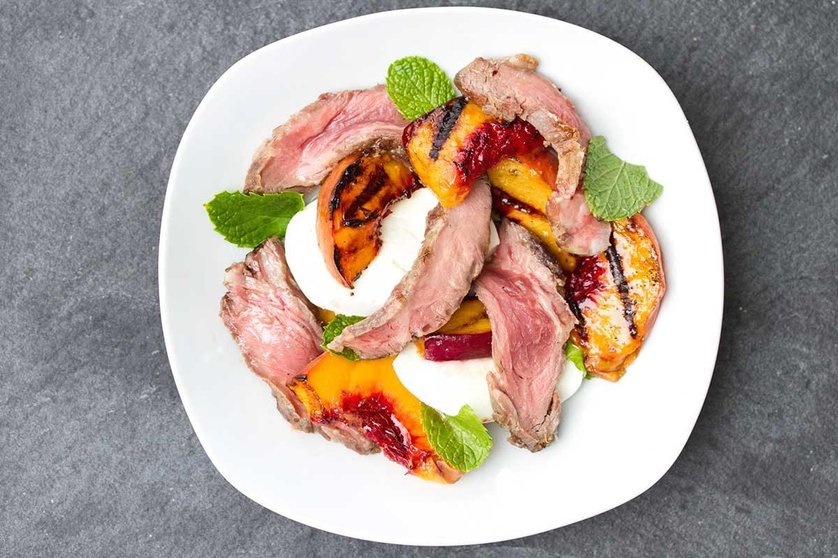 Iberico Pork Peach Mozzarella