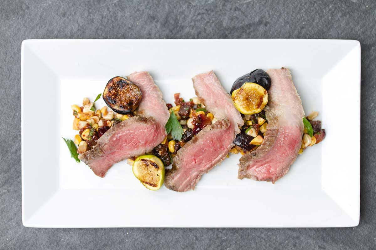 Iberico Pork Secreto Fig Corn Chorizo Salad
