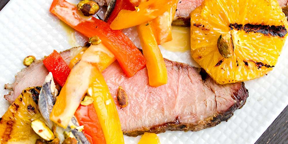 Iberico Pork w/ Orange, Peppers and Vinaigrette