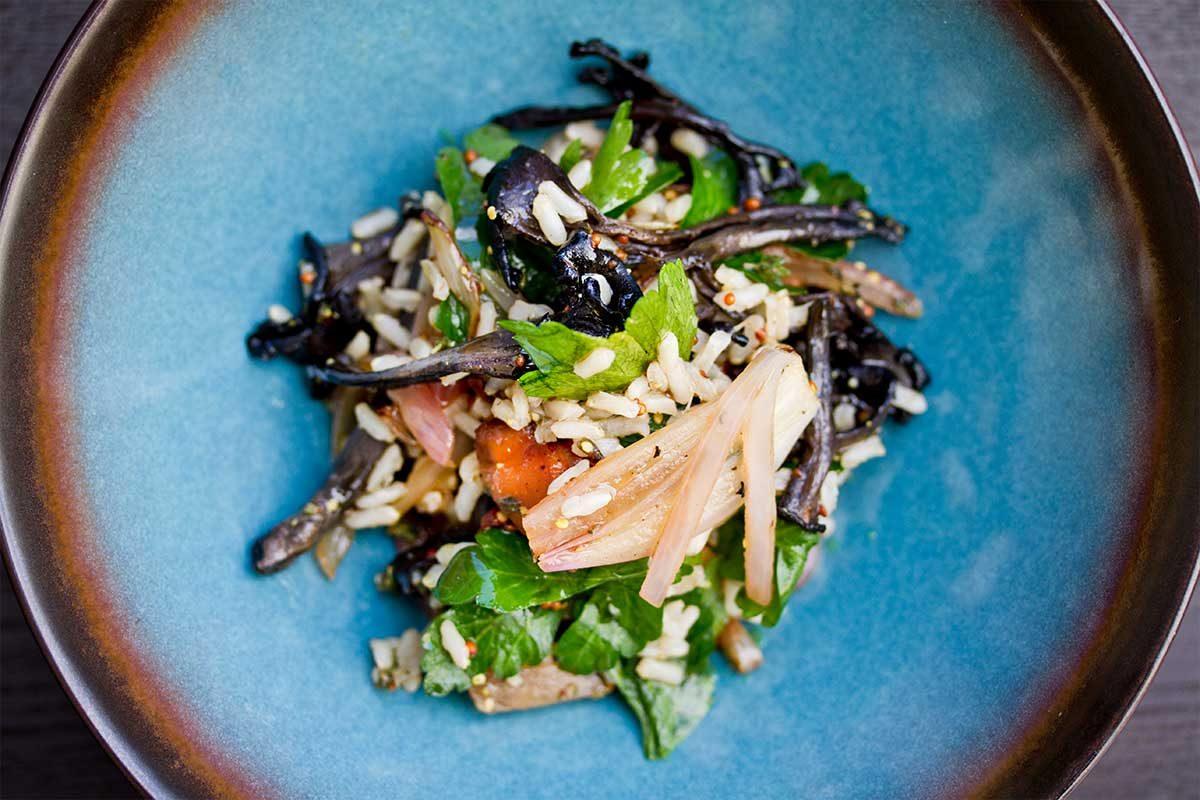 Brown Rice Mushroom Salad