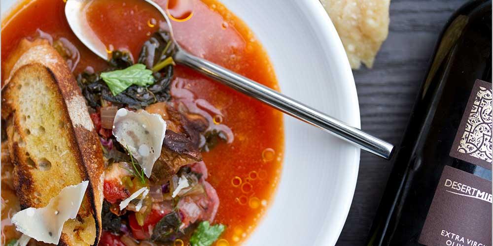 italian porcini soup crostini parmesan