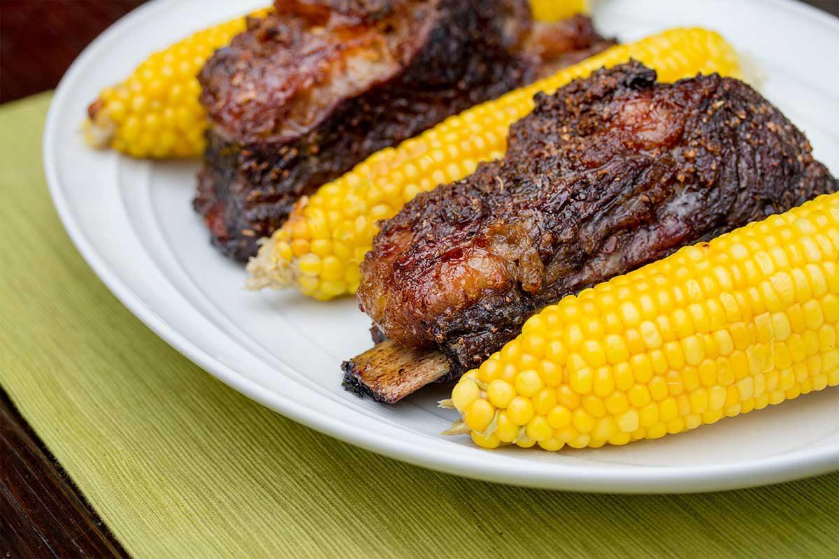 Grill-Roasted Kobe Beef Short Ribs