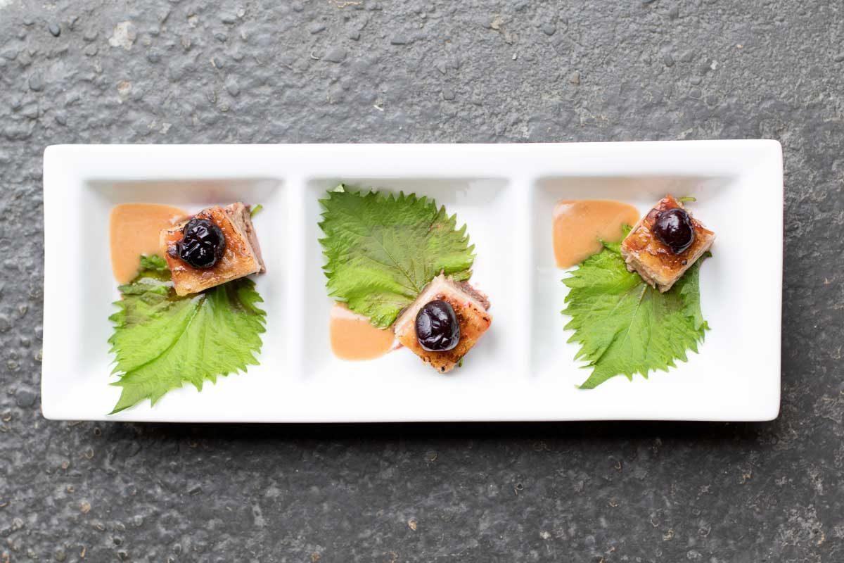 Kurobuta Pork Belly w/ Pickled Cherries