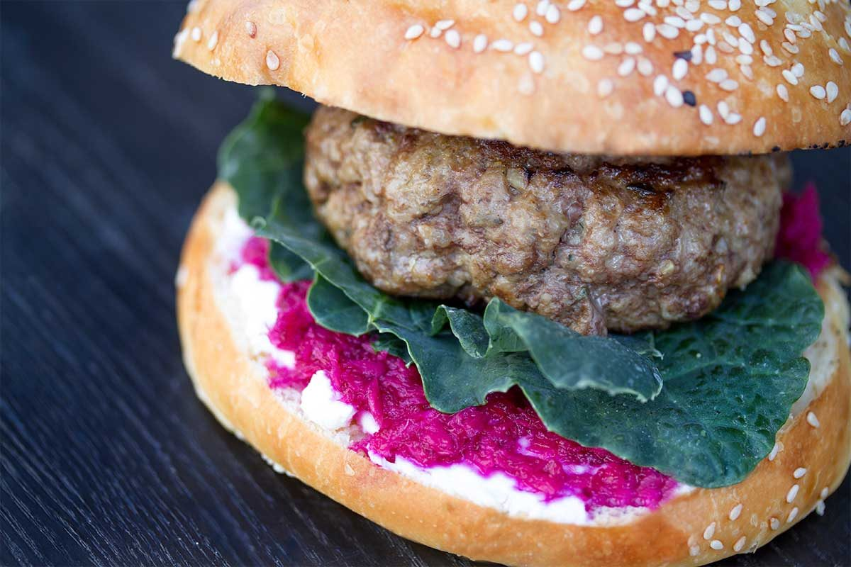 Lamb Goat Cheese Burger