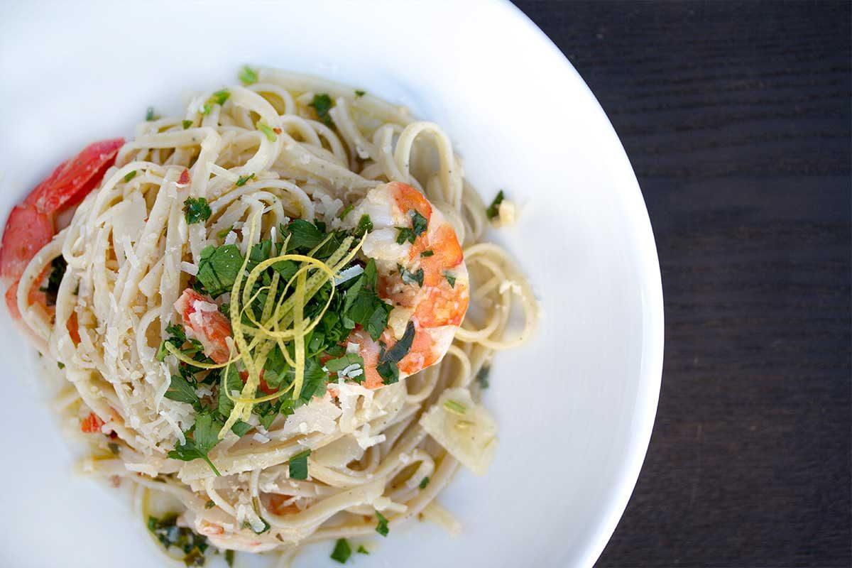 Lemon Pepper Shrimp Pasta