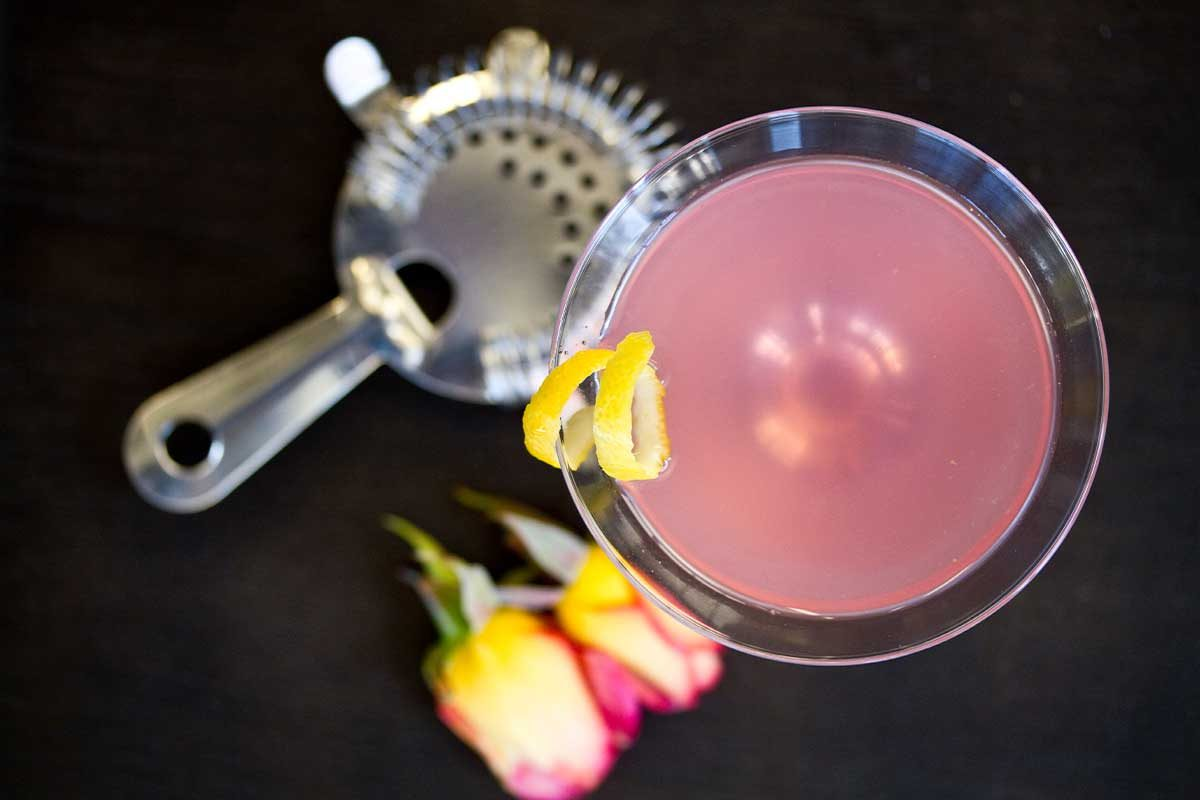 Lemon Rose Cocktail