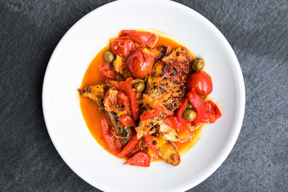 Ling Cod Spanish Style