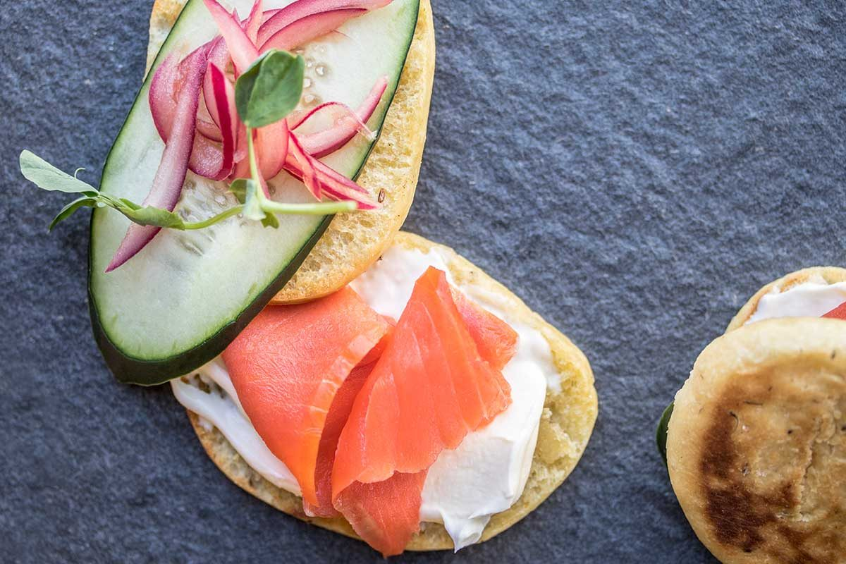 Lox on Homemade Caraway & Dill Bread